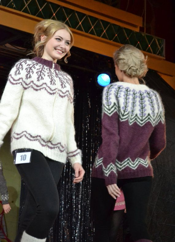 PDF Knitting Pattern Lopapeysa Cardigan Winter par violasdesign