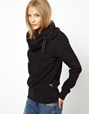 Puma Sweatshirt With Cowl Neck