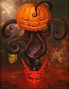 Under Autumns Tentacled Spell by Todd Schorr.