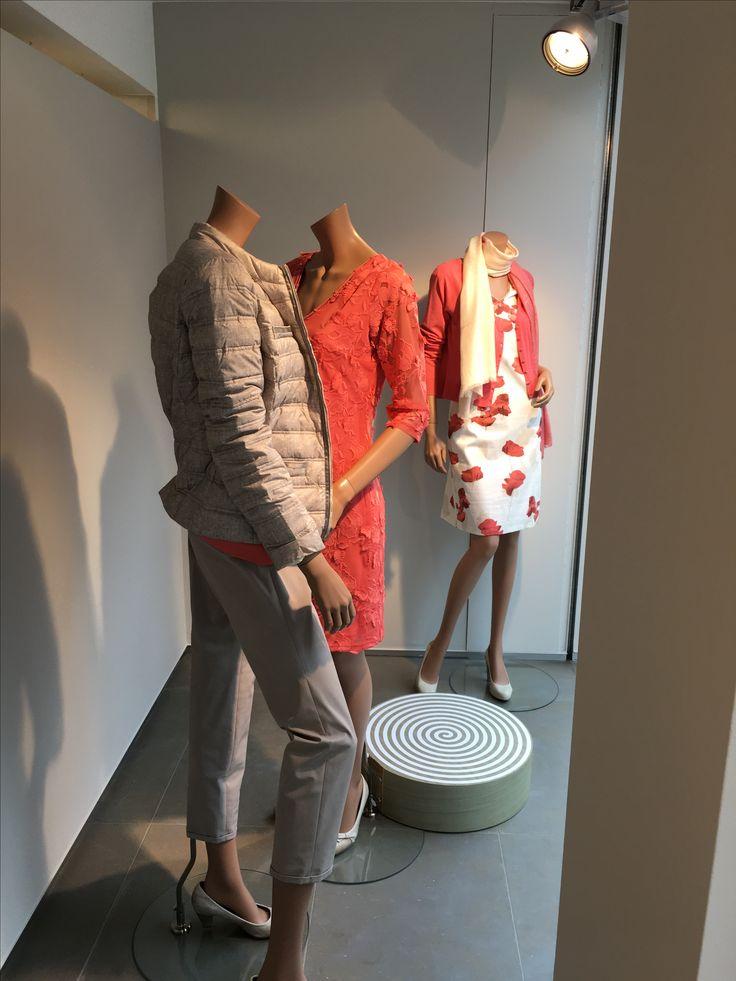 Prachtige jurken van Marie Mero. #ss17 #nuytsmode #fashion #mode #corail #dress #belgian brand
