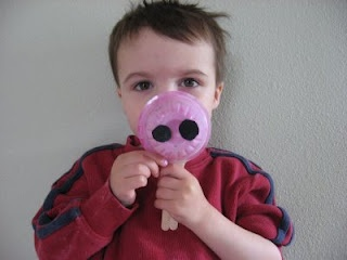 Pig nose craft...use to act out The Three Little Pigs.