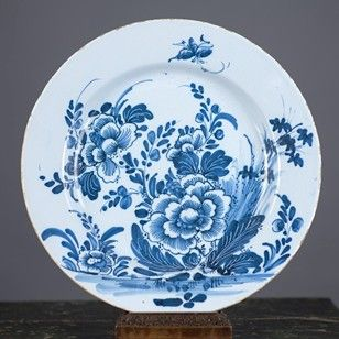 18th Century blue and white English Delft Charger - Decorative Collective