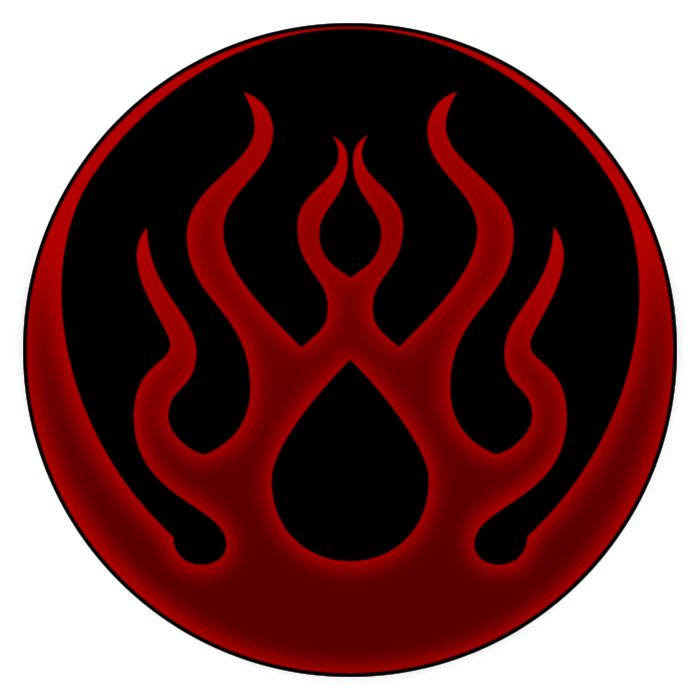 My version of the Immolate dark gift symbol from Blood Omen 2: Legacy of Kain. Blood Omen 2: Legacy of Kain belongs to Crystal Dynamics.