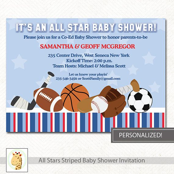62 best all star images on pinterest | boy baby showers, baby, Baby shower invitations