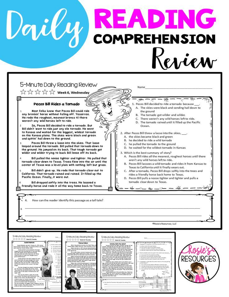 4th Grade Daily Reading Comprehension Spiral Reading Bundle | Third ...
