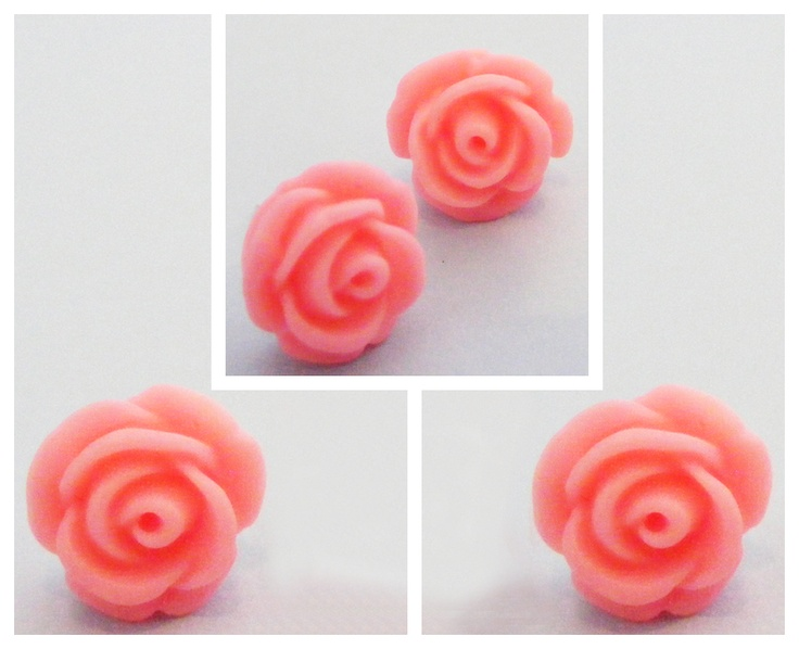 In Bloom: Brighten up your summer outfits with these super-bright pink rose studs. Bloomin' marvellous!