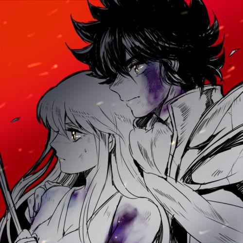 Saori/Athena and Seiya - Saint Seiya