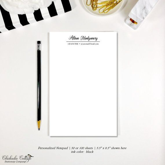 personalized notepad professional business stationery set