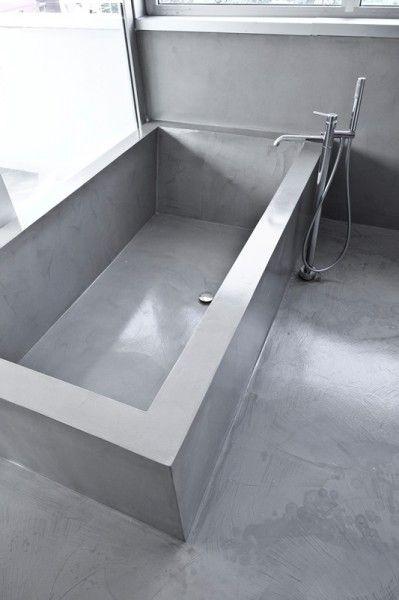 Oltre 1000 idee su bagno di cemento su pinterest lavello in cemento bagno e piani di lavoro - Vasca da bagno in cemento ...