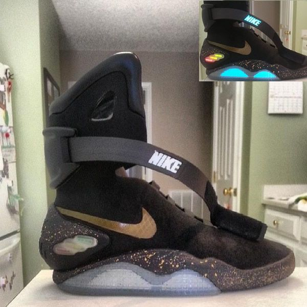 new arrival 29424 d699a ... nike air mag back to future shoes elite black .. ...