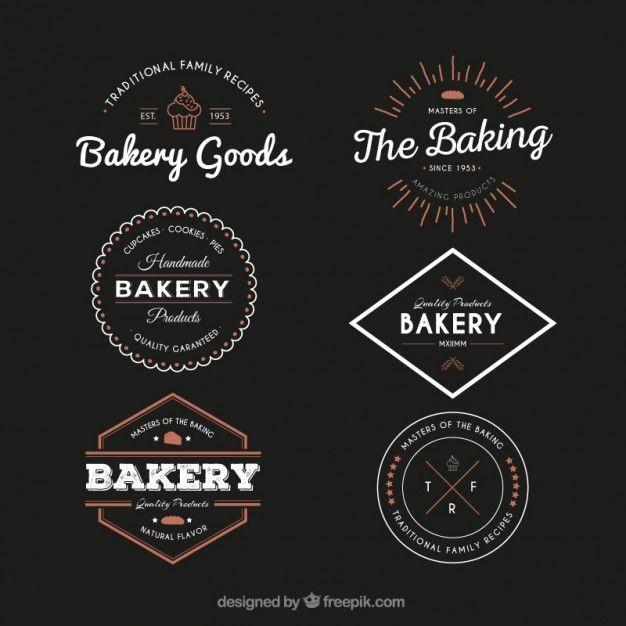 Identité visuelle / de marque pour les artisans boulangers et pâtissiers. Quelques exemples de logos. L'Atelier