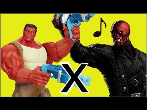 Red Hulk Marvel vs Red Skull enemy of Captain America / Hulk Vermelho x ...