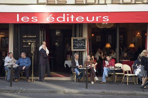 Les Editeurs, Paris. A restaurant known for being frequented by publishers.