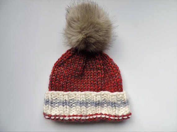 Weekend at the Cabin  Faux Fur Pom Toque