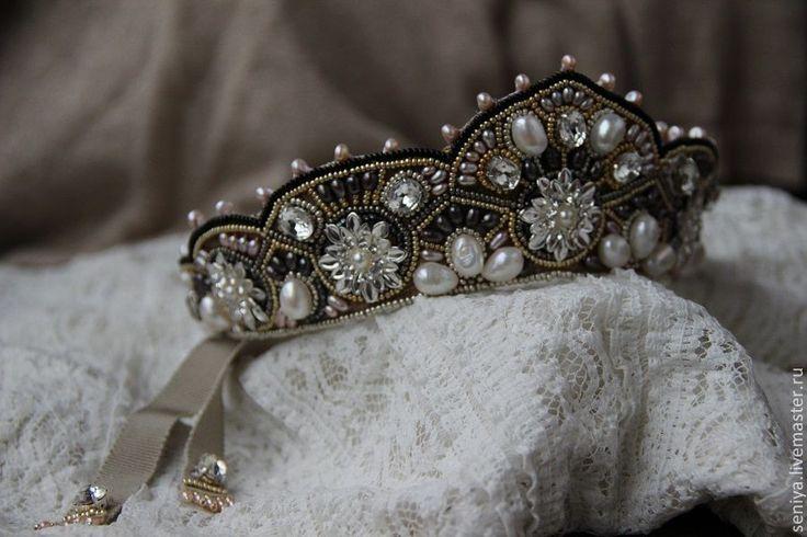 Купить Венец - серебряный, кокошник, венец, свадебные аксессуары, свадебное украшение, свадебный венок