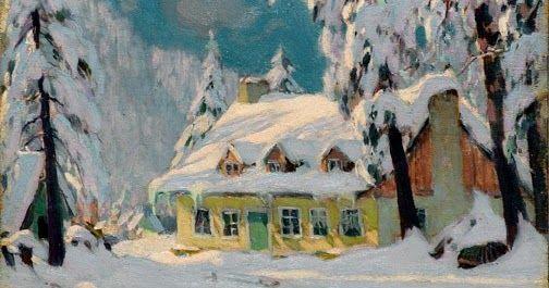 Clarence Gagnon  (1881-1942), Après la tempête (After the Storm ; ca. 1922). Image Source: Galerie Walter Klinkhoff .   Few painters ha...