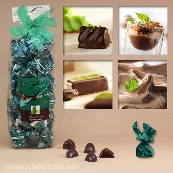 Mint Cremes Cellophane Bags  Fardoulis Chocolates, Chocolate Plato  www.choc.com.au