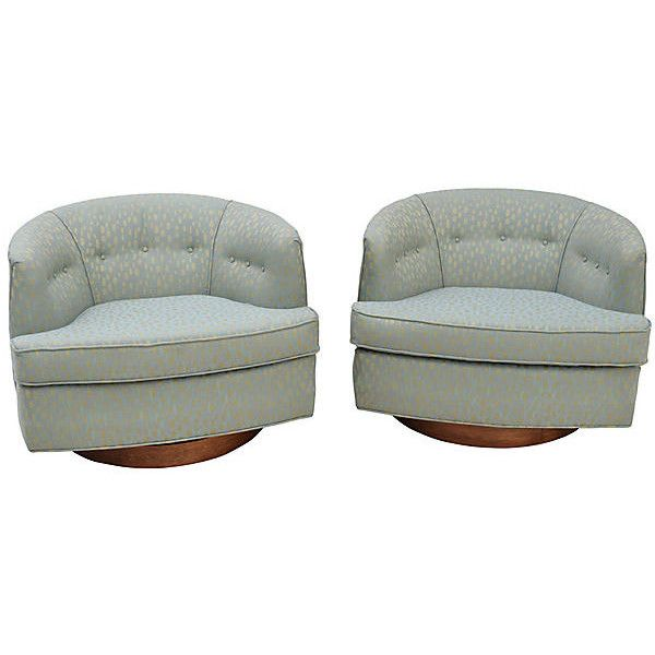 Pre Owned Milo Baughman Swivel Lounge Chairs Pair   4 395    liked on  Polyvore. Die besten 25  Second hand chairs Ideen auf Pinterest   St hle im