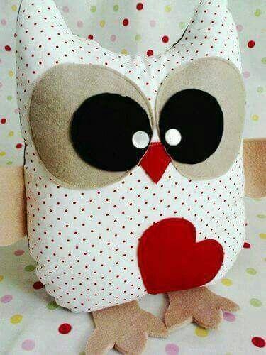 Owl heart doll