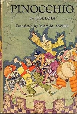 Carlo Collodi, Pinocchio, (1930s?) Cover and the interior illustrations  by Charles Folkard.