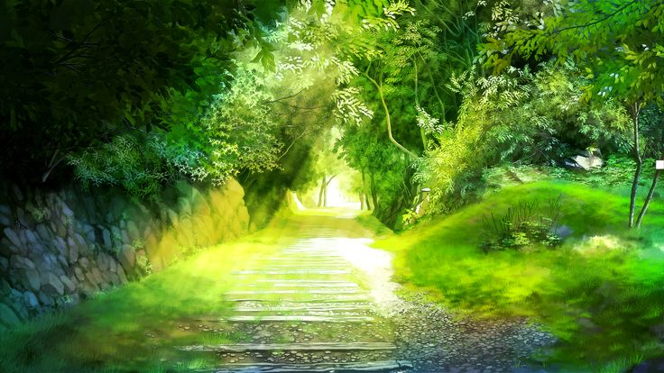 Nature Anime Scenery Background Wallpaper | Resources ...
