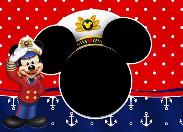 Invitaciones De Mickey Mouse Para Editar Gratis En 2019