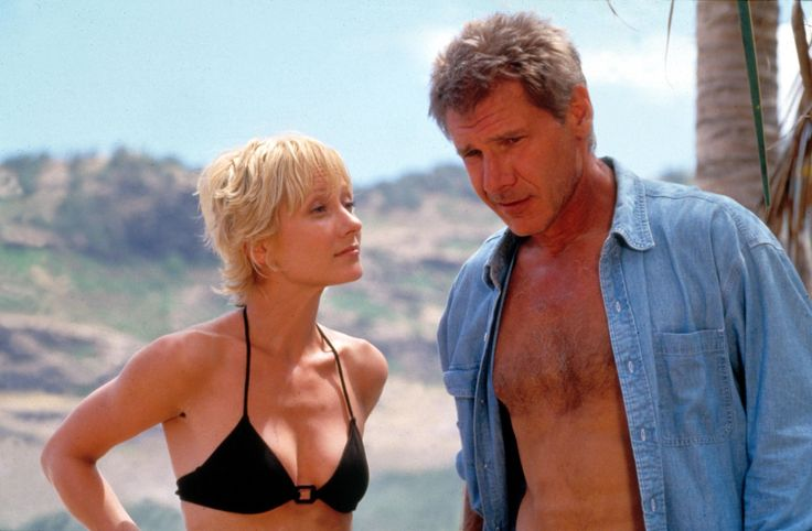 "Best cinematic swimsuit moments Robin Monroe and Quinn Harris Actors: Anne Heche and Harrison Ford Movie: ""Six Days Seven Nights"" Year: 1998  great movie!!"