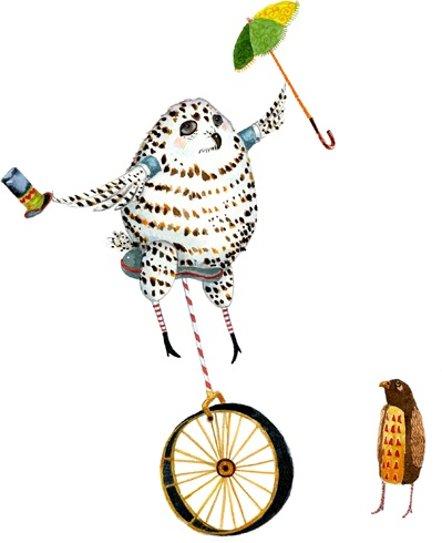 owl on a bike by Tracey Long