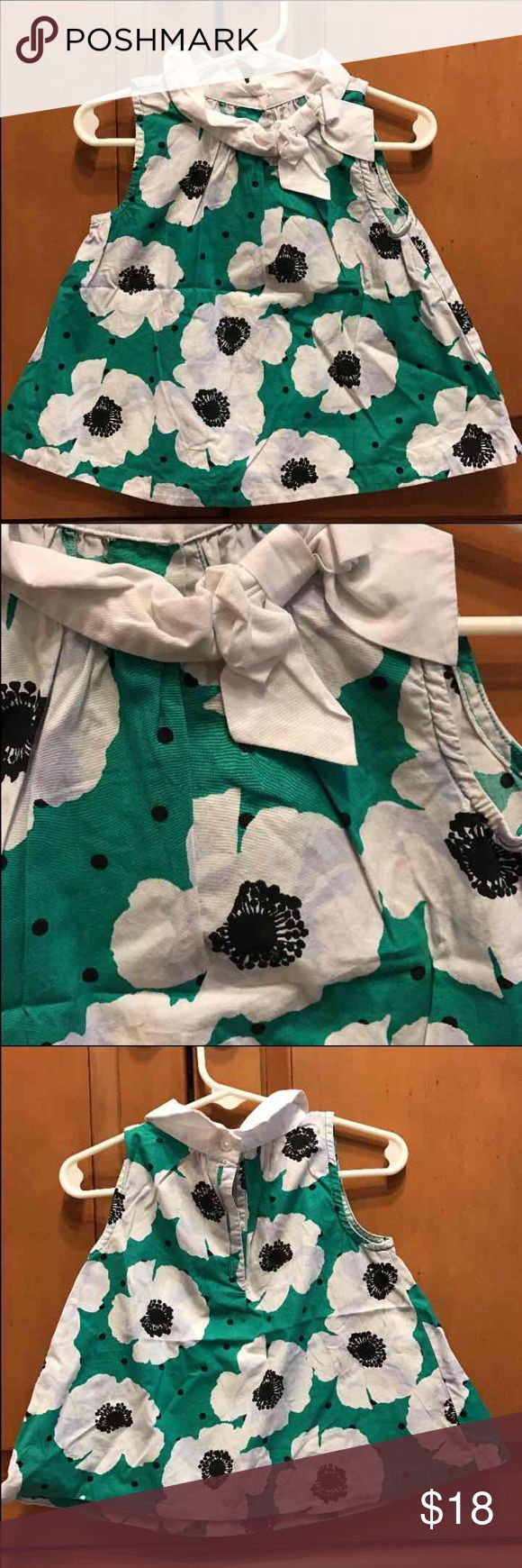 Janie and Jack green poppy print blouse top 2t The shirt is in excellent used condition it does need to be ironed.  It is from 2014 collection. Janie and Jack Shirts & Tops Blouses