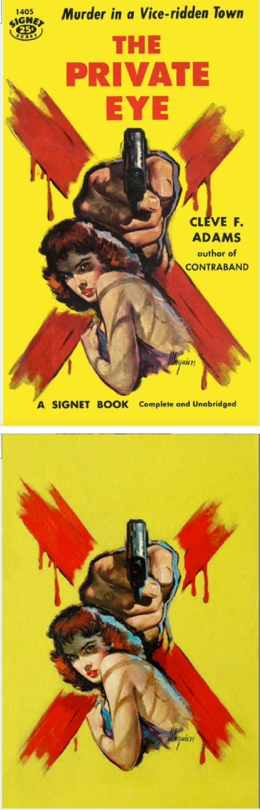 ROBERT MAGUIRE - The Private Eye by Cleve F. Adams - 1957 Signet Books