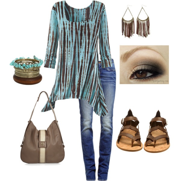 """Casual Tunic and Jeans for Fall"" by donna-williams-burgess on Polyvore"