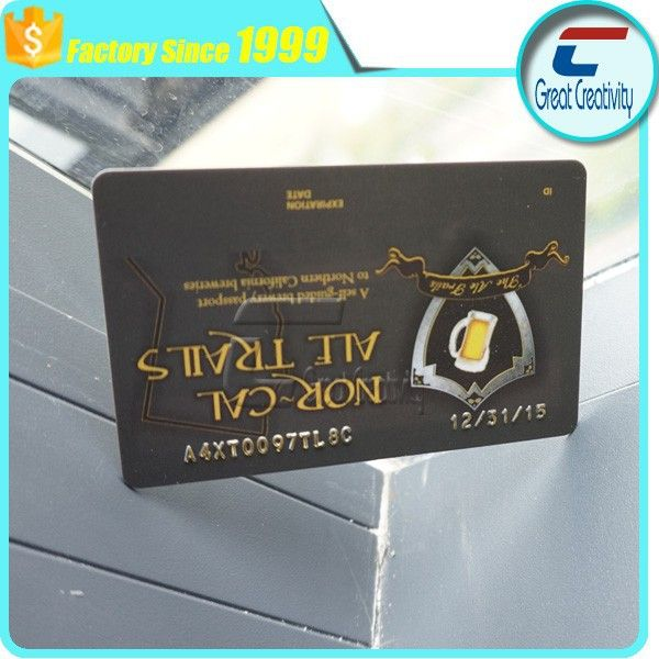 gold hot stamping offset printing standard size number serial NBS convex code passport card