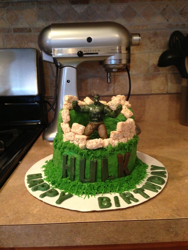 Incredible Hulk cake Cakes by Sandy My cakes Pinterest ...