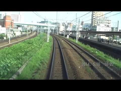 (撮り直し)名鉄名古屋本線 「国府」行き快特ですが...岐阜~豊橋 前面展望 - YouTube