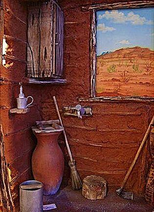 Visão interna das casas simples do povo do Nordeste Brasileiro.