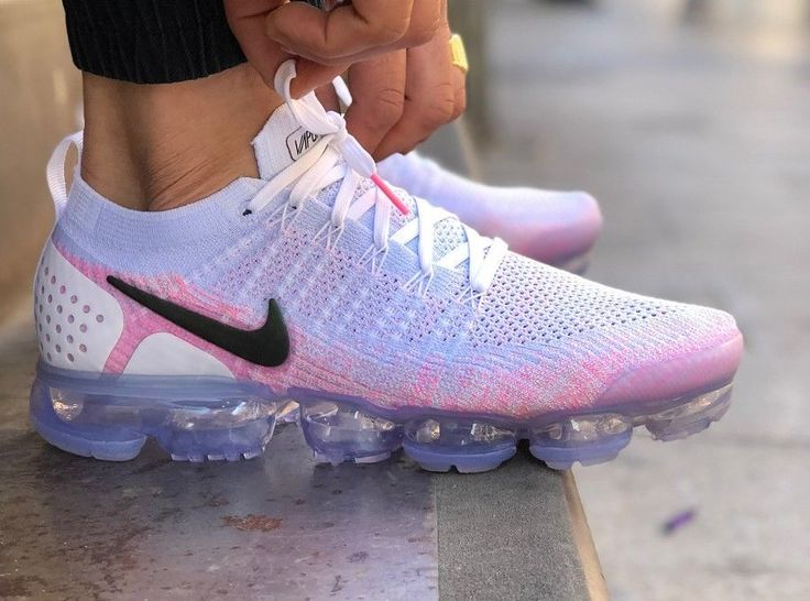 Pink And Gray Nike Running Shoes