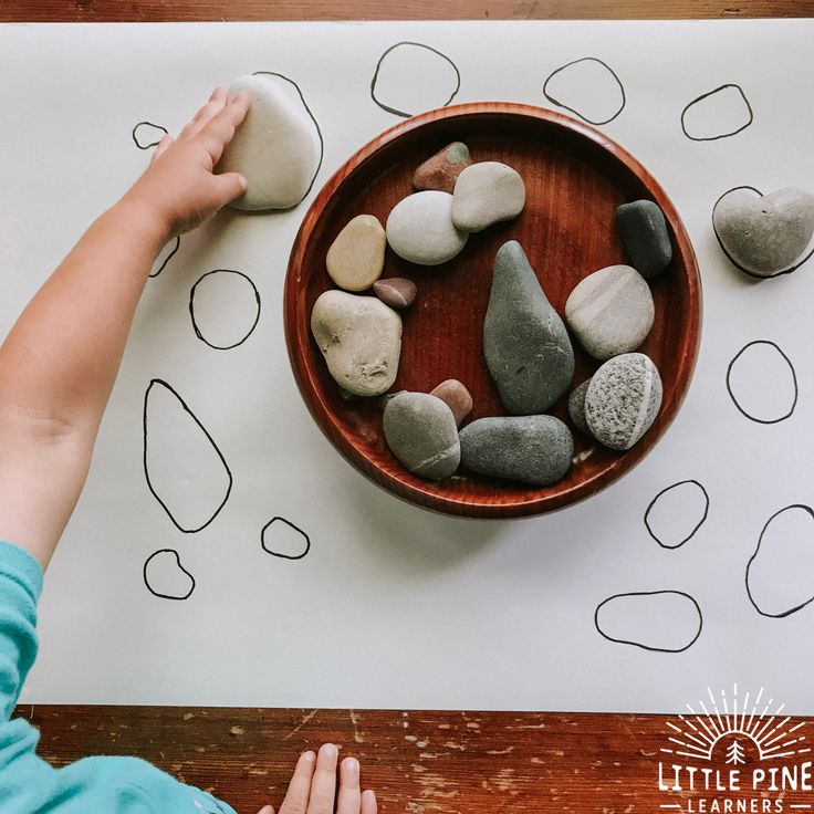 Try this simple stone matching game today! This game will give your child the op…