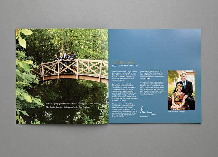 Junior Kings Prospectus- Welcome - Carr Kamasa Design - London