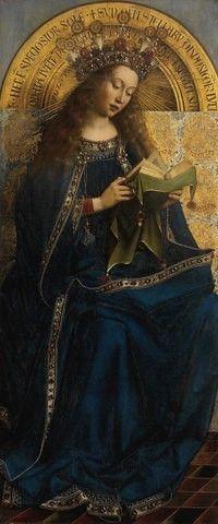 Хуберт и Ян ван Эйк. Богоматерь. Центральная часть Гентского алтаря (фрагмент). Фландрия, 1432 год  (Аквилегия)