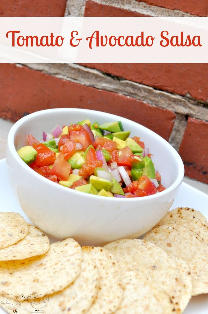Fresh Tomato  Avocado Salsa - This is the perfect summer side dish and you can easily adjust how much kick your salsa has! {The Love Nerds} #avocadorecipe #summersalsa #appetizer