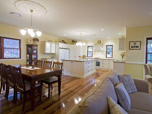 Hamilton Traditional Queenslander style home by Garth Chapman; kitchen layout