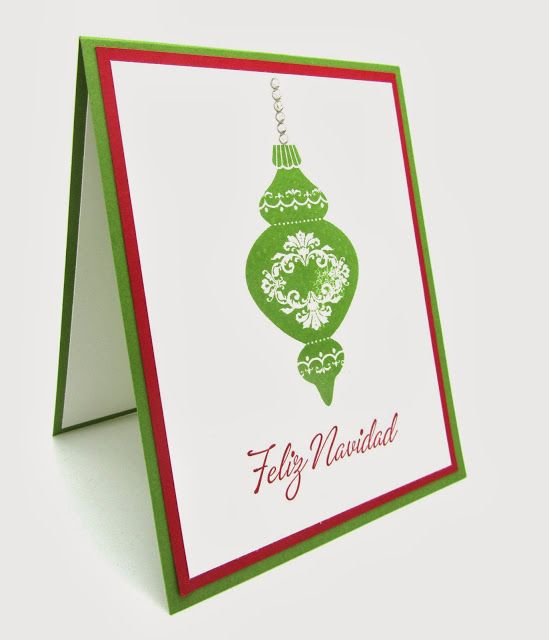 Feliz Navidad, Merry Christmas card using all Stampin' Up! products