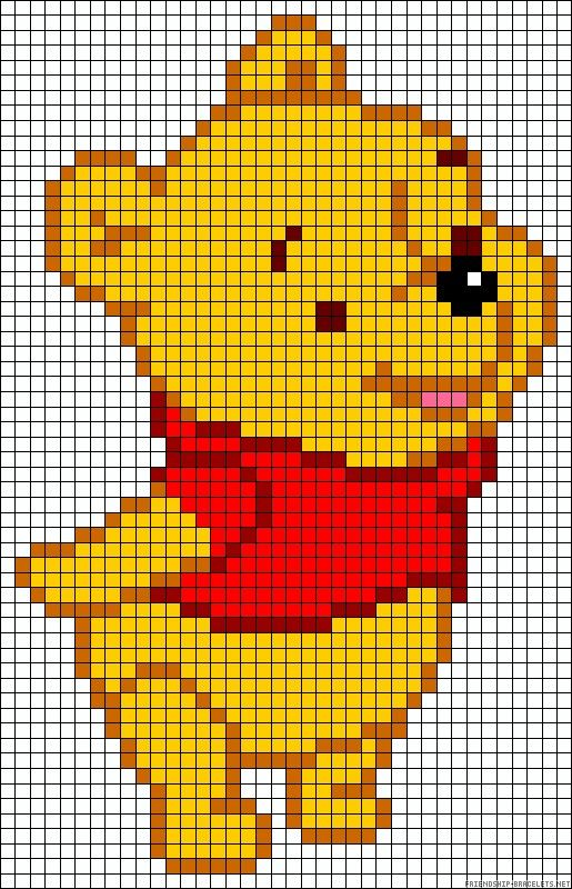 Pooh Bear Perler Bead Pattern Disney Pinterest