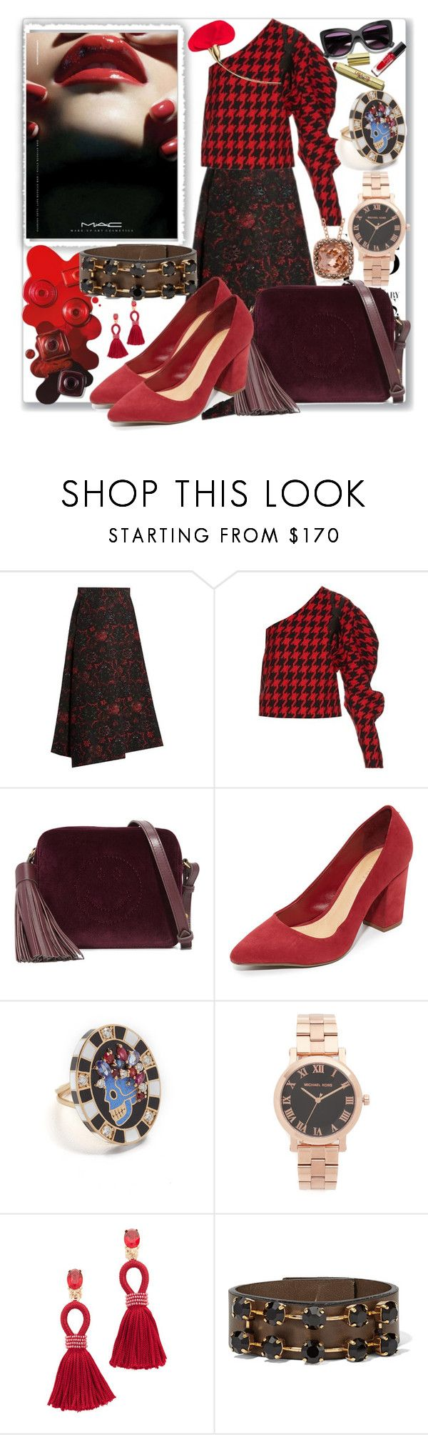 """""""Rock the Look Once More!!"""" by stylediva20 ❤ liked on Polyvore featuring Y's by Yohji Yamamoto, A.W.A.K.E., M.A.C, Anya Hindmarch, Schutz, Holly Dyment, Michael Kors, Oscar de la Renta, Dolce&Gabbana and Marni"""