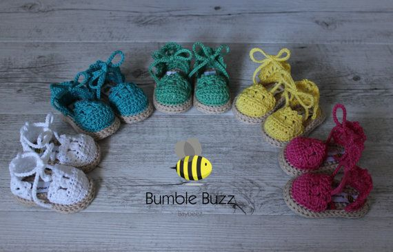 Beachy   Baby Espadrille Sandals / Booties / by BumbleBuzzBaybeez