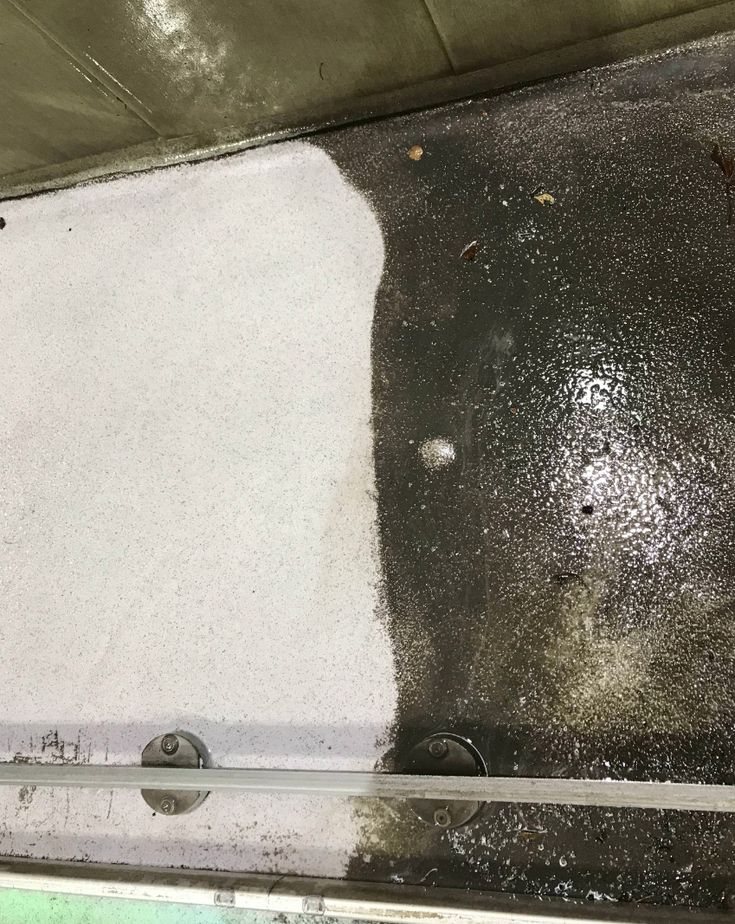 Some really nasty concrete needed to get power washed.