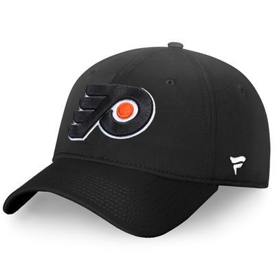 Philadelphia Flyers Fanatics Branded Elevated Core Fundamental Adjustable Hat - Black