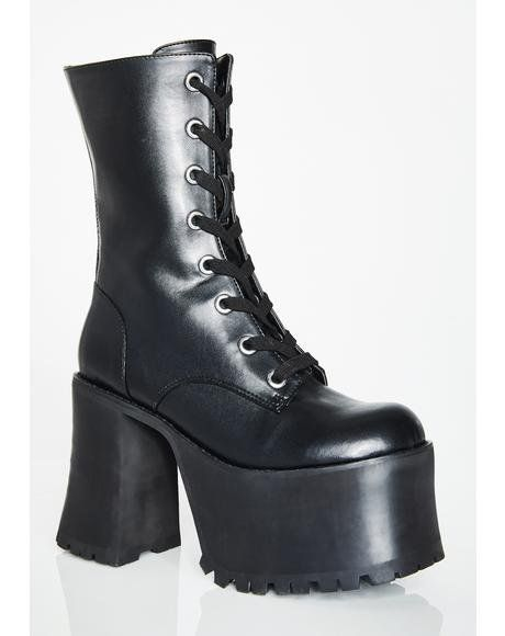 12c8c9260e Idol Worship Charm Boots in 2019 | Shoes | Platform boots, Shoes, Boots