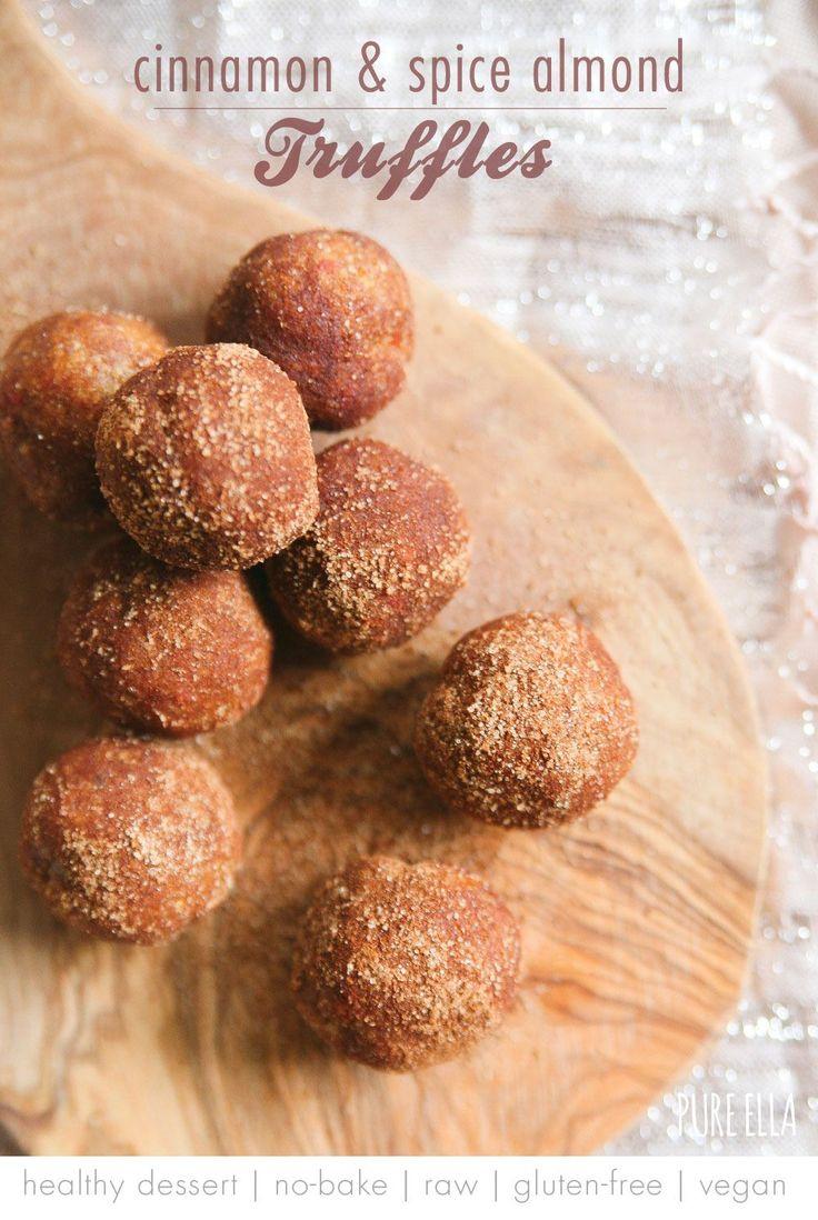 Cinnamon and Spice Almond Truffles : no-bake, gluten-free, vegan, paleo