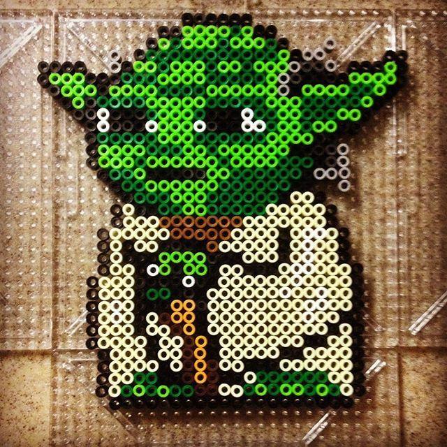 Yoda Star Wars perler beads by jdieguez11